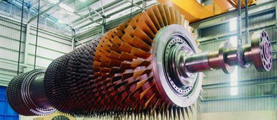 ротор турбины (диски насаженные на вал)
